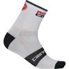 Castelli Men's Rosso Corsa 9 Sock - L/XL - White
