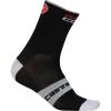Castelli Men's Rosso Corsa 9 Sock - XXL - Black