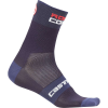 Castelli Men's Rosso Corsa 9 Sock - L/XL - Dark Steel Blue