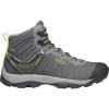 Keen Men's Venture Mid Waterproof Shoe - 7.5 - Magnet / Chartreuse