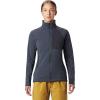 Mountain Hardwear Women's Keele Full Zip Jacket - Large - Dark Storm