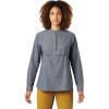 Mountain Hardwear Women's Camp Oasis LS Shirt - Small - Zinc