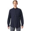 Mountain Hardwear Women's Camp Oasis LS Shirt - Large - Dark Zinc
