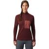 Mountain Hardwear Women's Daisy Chain 1/2 Zip Pullover - Medium - Washed Rock
