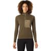 Mountain Hardwear Women's Daisy Chain 1/2 Zip Pullover - Medium - Light Army
