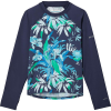 Columbia Youth Sandy Shores Printed LS Sunguard Top - Medium - Nocturnal Magnolia Floral / Nocturnal