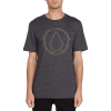 Volcom Men's Off Pin SS Tee - Small - Heather Black