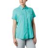 Columbia Women's Lo Drag SS Shirt - XS - Dolphin
