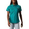 Columbia Women's Lo Drag SS Shirt - Medium - Waterfall