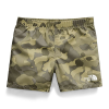 The North Face Toddlers' Class V Water 3 Inch Short - 4T - Burnt Olive Green Ponderosa Print