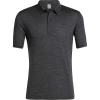 Icebreaker Men's Solace SS Polo - XL - Black Heather