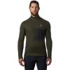 Mountain Hardwear Men's Cragger2 LS 12 Zip Top - XL - Dark Army