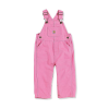 Carhartt Infants' Canvas Bib Overall - 18M - Rose Bloom