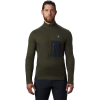 Mountain Hardwear Men's Cragger2 LS 12 Zip Top - XXL - Dark Army