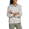 Eddie Bauer Motion Women's Enliven Pull-Over Petal Back Hoodie - L - Snow
