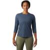 Mountain Hardwear Women's Right On 3/4 Tee - Small - Light Zinc
