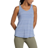 Eddie Bauer Motion Women's Trail Light Draped Back Tank - XS - Metal Blue
