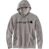 Carhartt Men's Force Delmont Signature Graphic Hooded Sweatshirt - Large Regular - Asphalt Heather