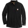 Carhartt Men's Force Relaxed-Fit Midweight LS 1/4 Zip Pocket T-Shirt - Small - Black