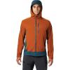 Mountain Hardwear Men's Stretch Ozonic Jacket - Small - Rust Earth