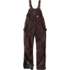 Carhartt Women's Quilt Lined Washed Duck Bib Overall - Small Regular - Dark Brown