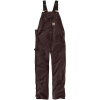 Carhartt Men's R01 Duck Bib Overall - 36x32 - Dark Brown