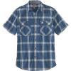Carhartt Men's Rugged Flex Relaxed-Fit Lightweight SS Button-Front Pla - 3XL Tall - Dark Blue