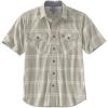 Carhartt Men's Rugged Flex Relaxed-Fit Lightweight SS Button-Front Pla - Small Regular - Greige