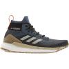 Adidas Men's Terrex Free Hiker Boot - 10 - Legacy Blue / Metal Grey / Raw Desert
