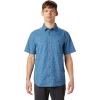 Mountain Hardwear Men's Conness Lakes SS Shirt - XL - Deep Lake Wave Print
