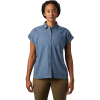 Mountain Hardwear Women's Camp Oasis SS Shirt - XL - Light Zinc