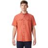 Mountain Hardwear Men's Crystal Valley SS Shirt - XXL - Dark Clay