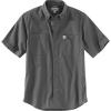 Carhartt Men's Rugged Flex Rigby SS Work Shirt - XXL Tall - Gravel