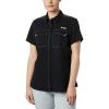 Columbia Women's Lo Drag SS Shirt - Large - Black