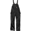 Carhartt Women's Quilt Lined Washed Duck Bib Overall - Small Short - Black