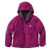 Carhartt Kid's Sierra Jacket Sherpa Lined - Large - Plum Caspia