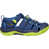 Keen Youth Newport H2 Shoe - 7 - Blue Depths / Chartreuse