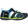 Keen Youth Seacamp II CNX Sandal - 5 - Black / Brilliant Blue