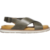 Keen Women's Lana Cross Strap Sandal - 6 - Dusty Olive / Silver Birch