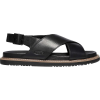 Keen Women's Lana Cross Strap Sandal - 7.5 - Black / Black