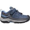 Keen Kids' Targhee Low Waterproof Shoe - 9 - Blue Nights / Della Blue