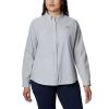 Columbia Women's Coral Point LS Woven Shirt - Medium - Cirrus Grey