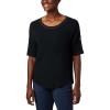 Columbia Women's Slack Water Knit 3/4 Sleeve Top - Small - Black