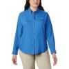 Columbia Women's Tamiami II LS Shirt - Large - Stormy Blue