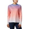 Columbia Women's Super Tidal Tee LS Shirt - Large - Lychee Gradient