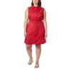 Columbia Women's Bonehead Stretch Sleeveless Dress - Large - Red Lily Swiss Dot