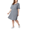 Columbia Women's Slack Water Knit Dress - XL - Collegiate Navy Stripe