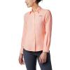 Columbia Women's Tamiami II LS Shirt - 1X - Tiki Pink