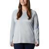 Columbia Women's Tidal Tee Hoodie - XS - Cirrus Grey / Stormy Blue Logo