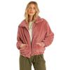 Billabong Women's Always Cozy Jacket - Medium - Soft Plum